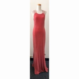 Tawny Coral Stretchy Low Back Dress